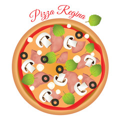 Pizza Regina. Vector design