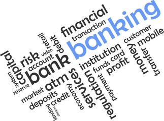 word cloud - banking