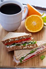 Breakfast sandwich with turkey