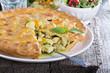 Chicken curry savory pie