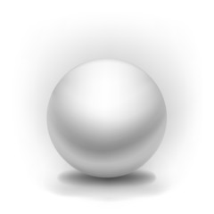 simple vector white sphere with shadow