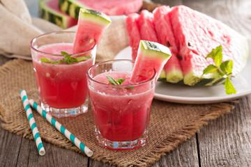 Watermelon drink in glasses