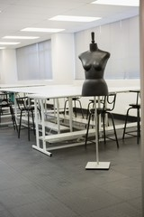Empty class room with a model