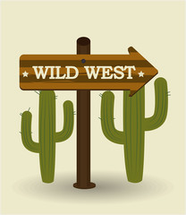 Western design, vector illustration.