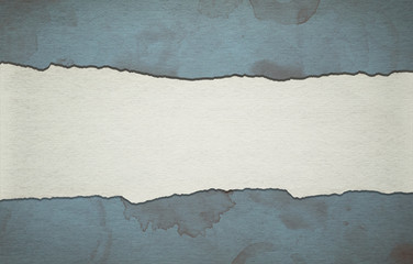 Vintage blue paper background with stripe and dirty stains