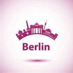 Vector silhouette of Berlin.