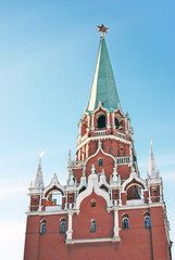Moscow Kremlin tower. UNESCO World Heritage Site.
