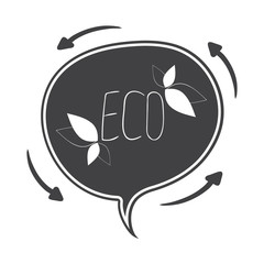 Hand drawn Vector speech bubble, ecology concept