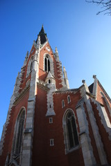 Vienna St Elisabeth church wide angeled