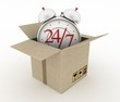 Executing online delivery of goods in the stream 24 hours.