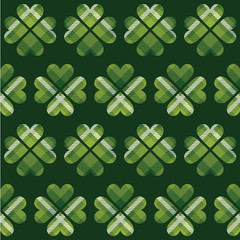 Saint Patrick's Day tartan seamless pattern.