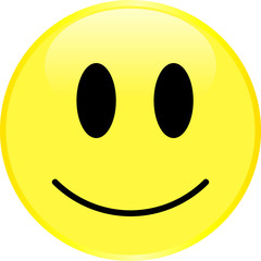 Yellow smiley face with a positive emotion.