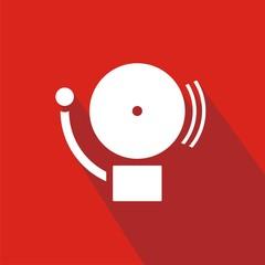 Icono alarma rojo sombra