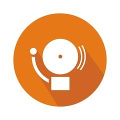 Icono alarma naranja botón sombra