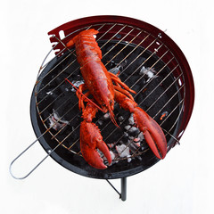 Canadian Lobster grilled on the barbecue