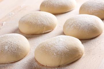 Fresh homemade pizza dough