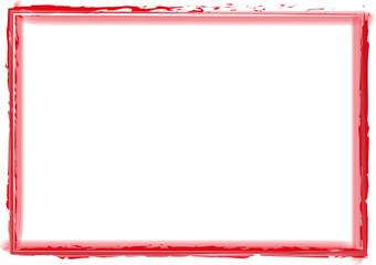 roter Rahmen Strich