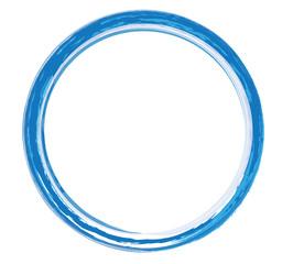 runder Rahmen blau
