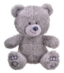 Grey furry teddy bear