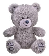 Grey furry teddy bear