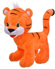 Plush orange toy tiger