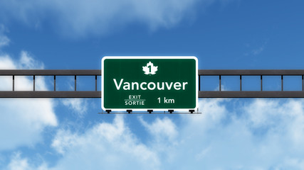 Vancouver Canada Transcanada Highway Road Sign