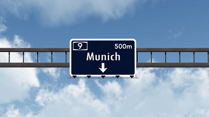 Munich Germany Highway Road Sign