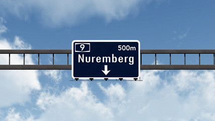 Nuremberg Germany Highway Road Sign