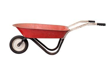 Antique Rusty Wheelbarrow