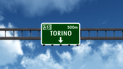 Torino Italy Highway Road Sign