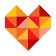 Herz Symbol abstrakt