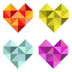 Set Herzen aus Dreiecken