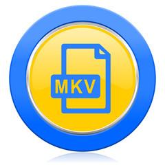 mkv file blue yellow icon