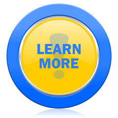 learn more blue yellow icon