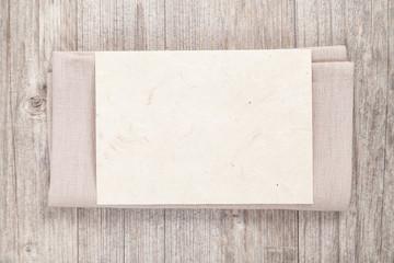 serviette mit karte (zum beschriften)