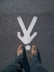 Man sign on asphalt