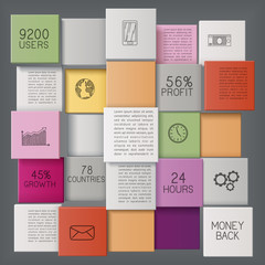 Business Background with Colorful Bars