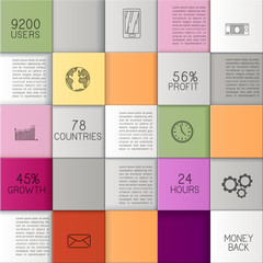 Busuness Background with Colorful squares
