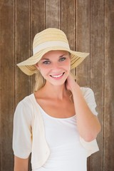 Attractive young blonde smiling at camera