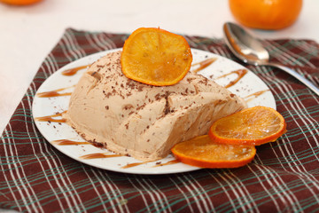 chocolate and orange semifredo ice cream