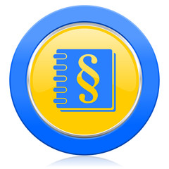 law blue yellow icon