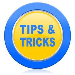 tips tricks blue yellow icon
