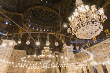 Inside of the mosque of Muhammad Ali, Saladin Citadel of Cairo