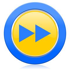 rewind blue yellow icon