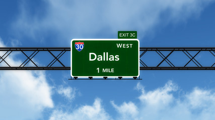 Dallas USA Interstate Highway Sign