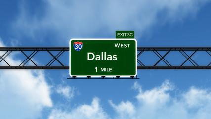 Dallas USA Interstate Highway Sign