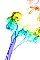 image colored smoke on white background