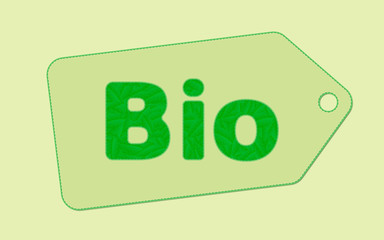 Vector illustration of a bio tag concept