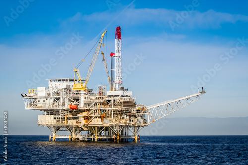 Poster Industrial geb. Oil Rig