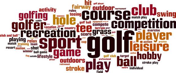 Golf word cloud concept. Vector illustration
